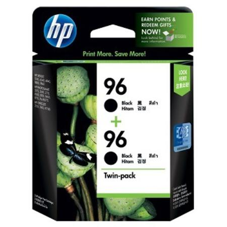 HP 96 Black Original High Capacity Ink Cartridge Twin Pack