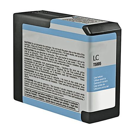 Compatible Light Cyan Epson T5805 Ink Cartridge (Replaces Epson T580500)