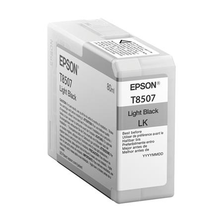 Epson T8507 (T850700) Light Black Original UltraChrome HD Ink Cartridge (80 ml)
