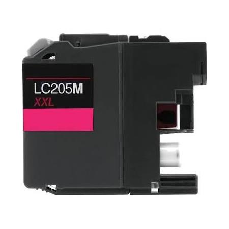 Compatible Magenta Brother LC205M High Yield Ink Cartridge