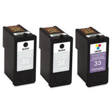 Lexmark No.32/33 (18C1517) Original 3/Pack Black/Tri-Color Ink Cartridges