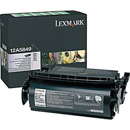 Lexmark 12A5849 Original Black High Yield Prebate Label Toner Cartridge