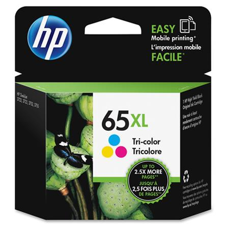 HP 65XL (N9K03AN) Tri-Color Original High Capacity Ink Cartridge