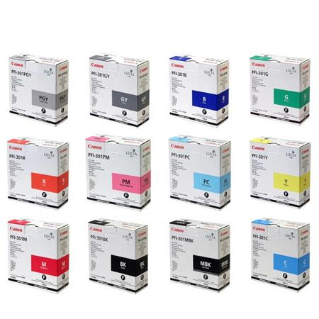 Canon PFI-301 Full Set Original Ink Cartridges