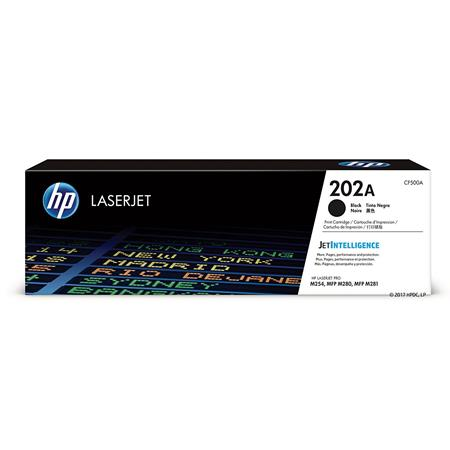 HP 202A Black Original Standard Capacity Toner Cartridge (CF500A)