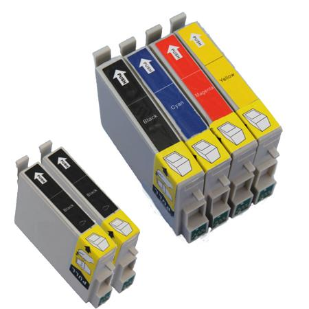 Compatible Multipack Epson T0321/324 Full Set + 2 EXTRA Black Ink Cartridges