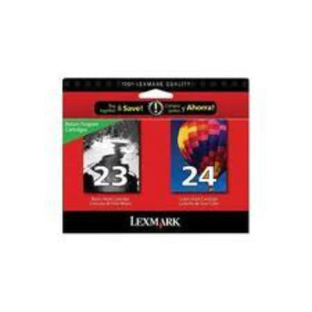 Lexmark Twin Pack No.23 and No.24 (18C1571) Original Black and Color Cartridges