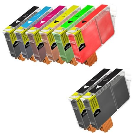 Compatible Multipack Canon BCI-6 BK/C/M/Y/R/G Full Set + 2 EXTRA Black Inkjet Printer Cartridges