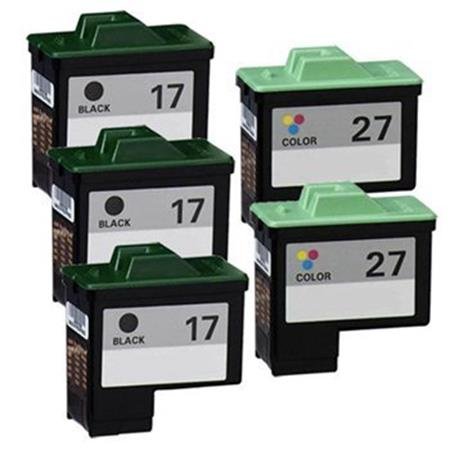 Clickinks No.17/No.27 2 Full Sets + 1 EXTRA Black Remanufactured Ink