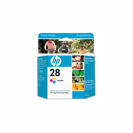 HP 28 Tri-Color Original Inkjet Print Cartridge (C8728AN)
