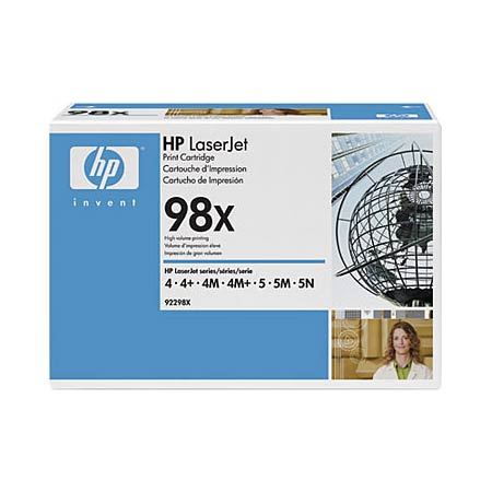 HP LaserJet 98X (92298X) Black Original High Capacity Print Cartridge with Microfine Toner
