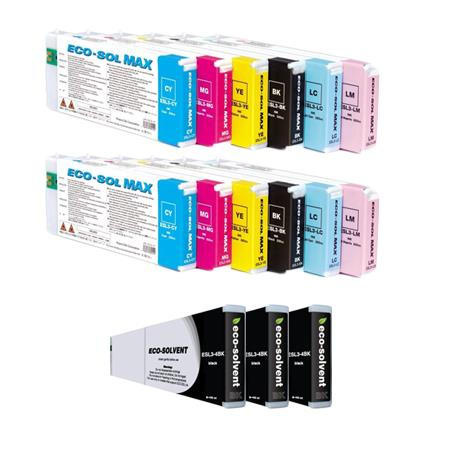 ESL34BK/CY/LC/LM/MG/YE 2 Full Sets + 3 EXTRA Black High Capacity Compatible Ink Cartridges