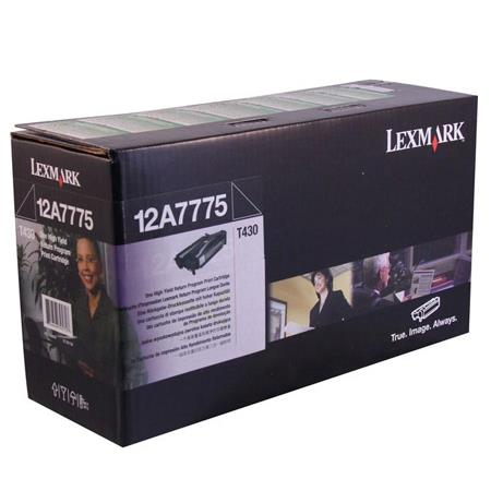 Lexmark 12A7775 Original Black High Yield Return Program Cartridge