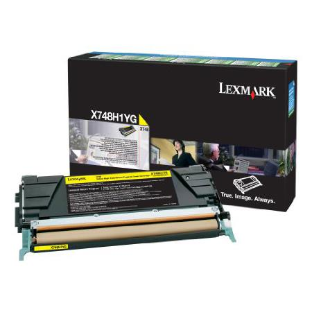 Lexmark X748H1YG Yellow Original High Capacity Return Program Toner Cartridge
