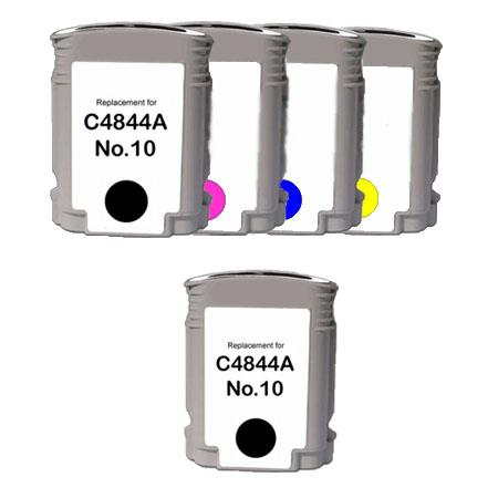 Compatible Multipack HP 10BK/C/M/Y Full Set + 1 EXTRA Black Ink Cartridges