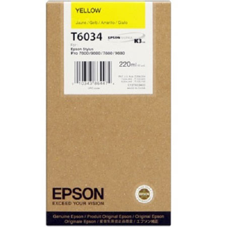 Epson T6034 (T603400) Original Yellow Ink Cartridge