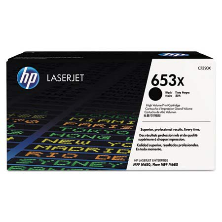 HP 653X Black Original High Capacity Toner Cartridge (CF320X)