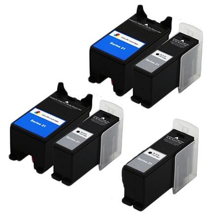 Compatible Multipack Dell X768N/X769N 2 Full Set + 1 EXTRA Inkjet Cartridges