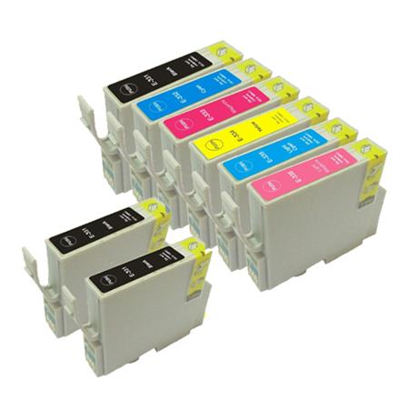 Compatible Multipack Epson T0331/336 Full Set + 2 EXTRA Black Ink Cartridges