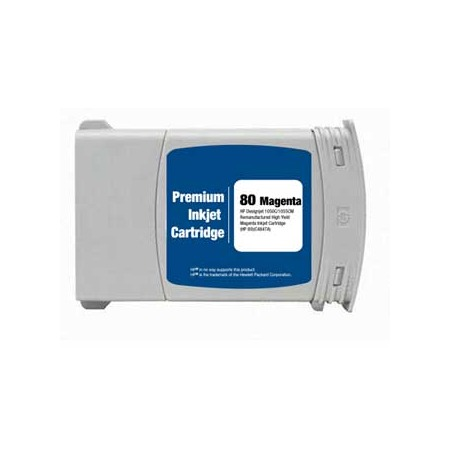 Compatible Magenta HP 80 High Yield Ink Cartridge (Replaces HP C4847A) (350ml)