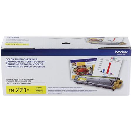 Brother TN221Y Yellow Original Standard Capacity Toner Cartridge