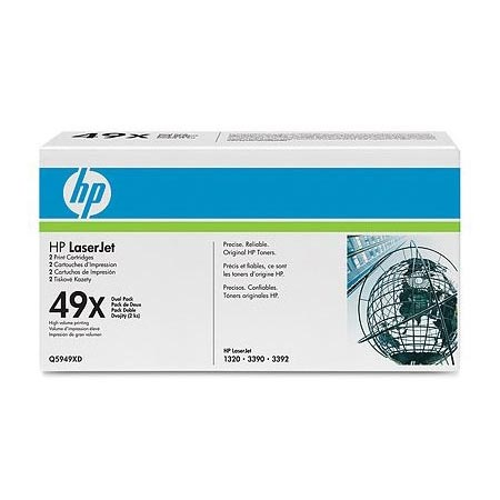 HP LaserJet 49X (Q5949XD) Original Black High Capacity Laser Toner Cartridge (Twin Pack)