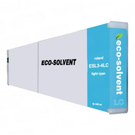 Compatible Light Cyan Roland ESL3-4LC-ST Eco-Sol Max Standard Yield Ink Cartridge