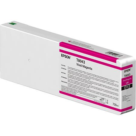 Epson T8043 (T804300) Vivid Magenta Original UltraChrome HD Ink Cartridge (750 ml)