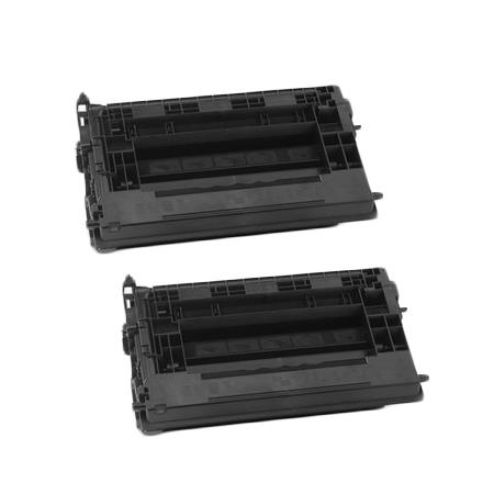 Clickinks 37A Black Remanufactured Standard Capacity Toner Cartridges Twin Pack