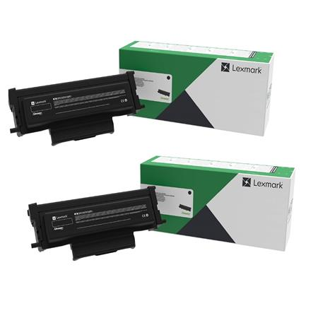 Lexmark B221H00 Black Original High Yield Return Program Toner Cartridges Twin Pack