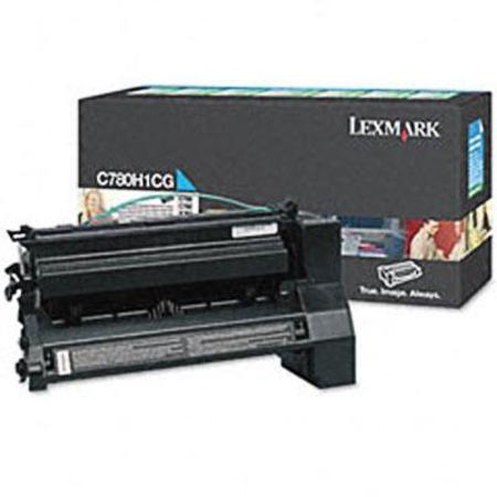 Lexmark C780H1CG Cyan Original High Yield Return Program  Laser Toner Cartridge