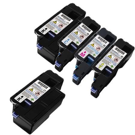 Clickinks 331-0777/331-0780 Full Set + 1 EXTRA Remanufactured Toners