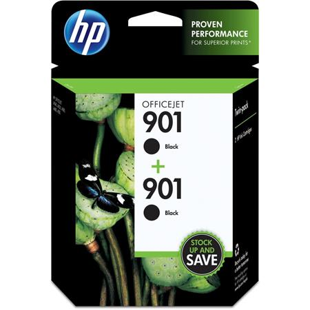 HP 901 (CZ075FN) Black Original Ink Cartridges (Twin Pack)