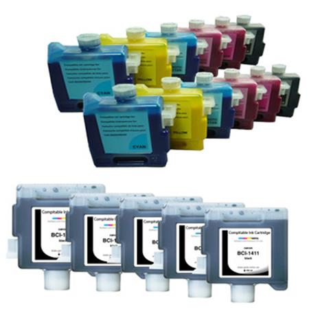 BCI-1411 BK/C/M/Y/PC/PM 2 Full Sets + 3 EXTRA Black Compatible Inks