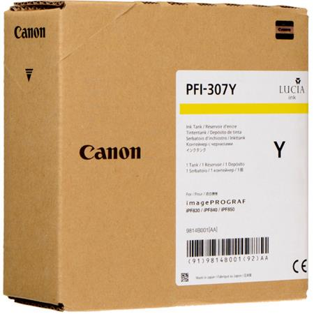 Canon PFI-307Y Yellow Original Standard Capacity Ink Cartridge (330ml)