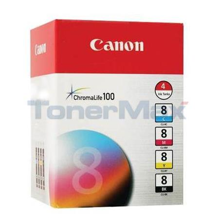 Canon CLI-8 Original Multi Value Pack (Black/Cyan/Magenta/Yellow)