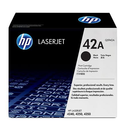 HP LaserJet 42A (Q5942A) BK Original Standard Capacity with Smart Printing Technology