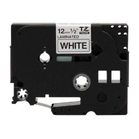 Brother TZe-231 Compatible P-Touch Label Tape - 1/2 in x 26 ft (12mm x 8m) Black on White