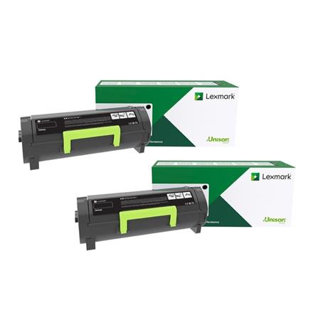 Lexmark 56F1H00 Black Original High Yield Return Program Toner Cartridges Twin Pack