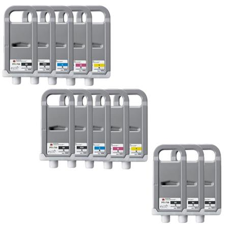 Compatible Multipack Canon PFI-706BK 2 Full Sets + 3 EXTRA Black Inkjet Cartridges