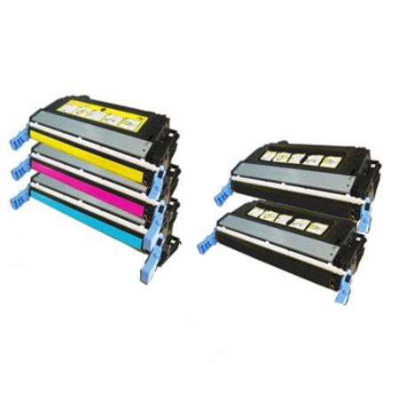 Q5950A/53A Full Set + 1 EXTRA Black Remanufactured Toner Cartridge