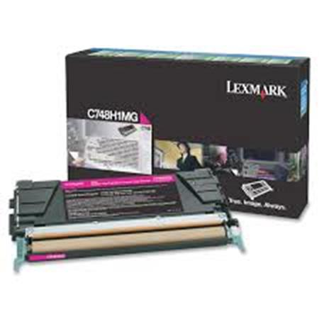 Lexmark C748H1MG Magenta Original High Capacity Return Program Toner Cartridge