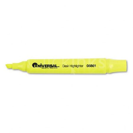 Desk Highlighter Chisel Tip Fluorescent Yellow 12/Pk