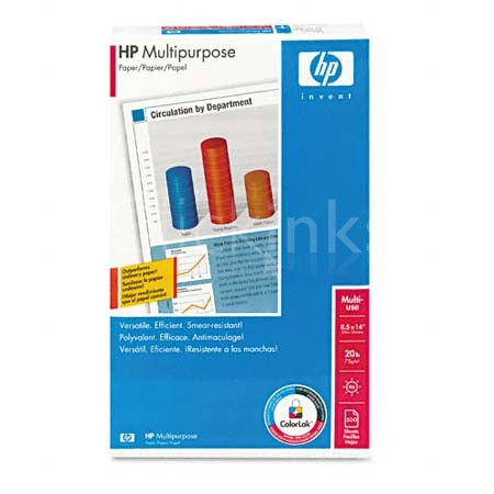 Multipurpose Paper  96 Brightness  20lb  8-1/2 x 14  White  500 Sheets/Ream