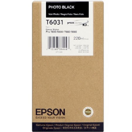 Epson T6031 (T603100) Original Photo Black Ink Cartridge