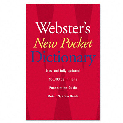 Houghton Mifflin Webster's New Pocket Dictionary  Paperback  336 Pages