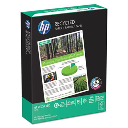 Office Recycled Paper  92 Brightness  20lb  8-1/2 x 11  White  5000 Shts/Ctn