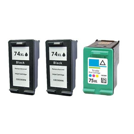 Compatible Multipack HP 74XL/75XL Full Set + 1 EXTRA Black Ink Cartridges
