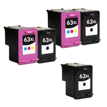 Clickinks 63XL 2 Full Sets+ 1 EXTRA Black Remanufactured Inks