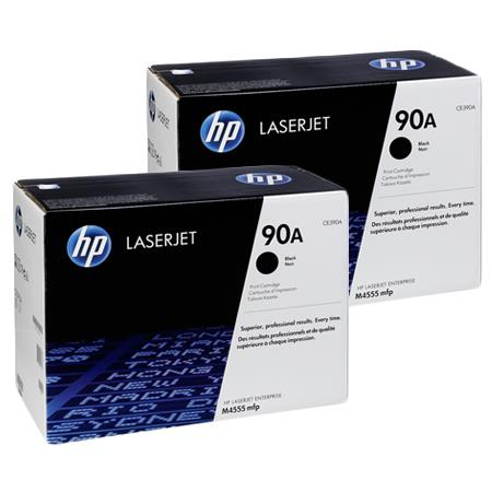 HP 90A Black Original Standard Capacity Toner Cartridges Twin Pack